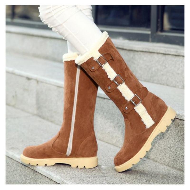 Chaussures De brown Bottes Chaud Black Casual Haute Femme Mode Hiver grey Da381 Genou TxYTRZrq