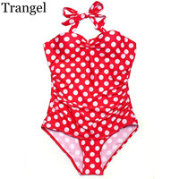 Trangel Swimwear One Piece Women One Piece Swimsuit Plus Size Bikini Dot Pattern Women Underwear Cup