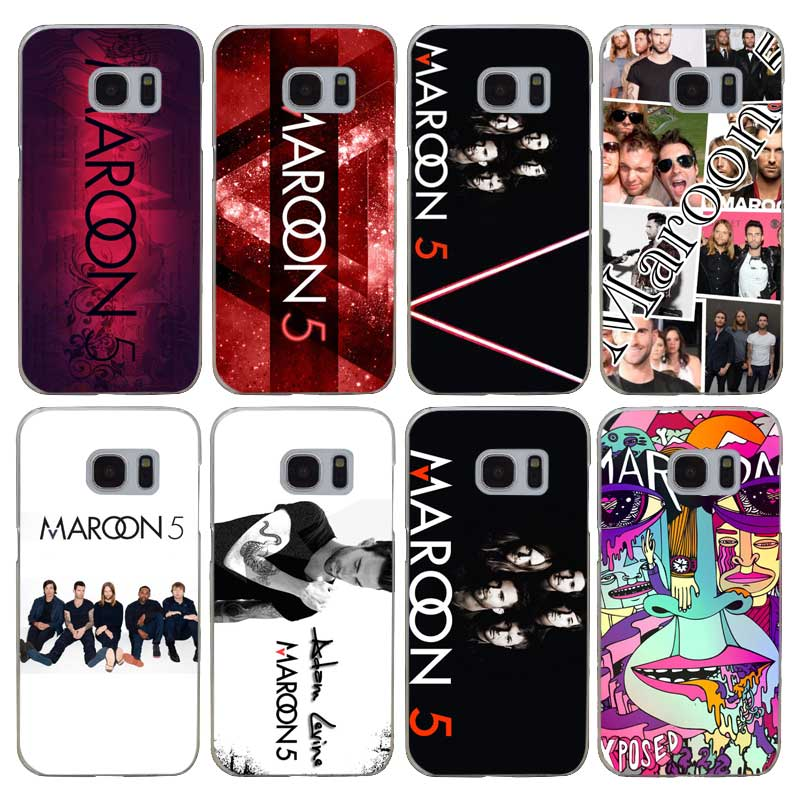H130 Maroon 5 Transparent Hard PC Case Cover For Samsung Galaxy S 3 4 5 6 7 8 Mini Edge Plus Note 3 4 5 8