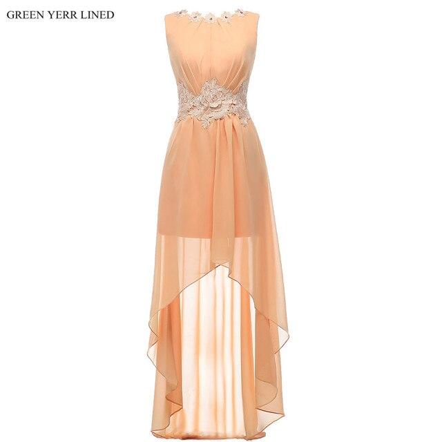 High Low Bridesmaid Dresses in Orange