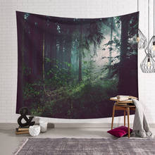 Green Forest Psychedelic Tapestry Home Decorations Wall Fabric  Wall Hanging Tapestry Blanket Tapestries  Farmhouse Decor цена 2017