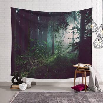 Зеленый лес Psychedelic гобелен домашние украшения Настенная ткань настенный гобелен одеяло гобелены декор для фермерского дома