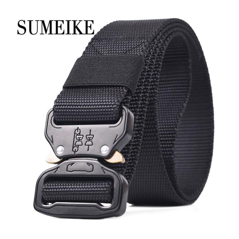 110-150cm Tactical   Belt   Male Waist Strap Outdoor Adjustable Army   Belt   Mens Quick-releasing Military Canvas   Belts   Cummerbunds