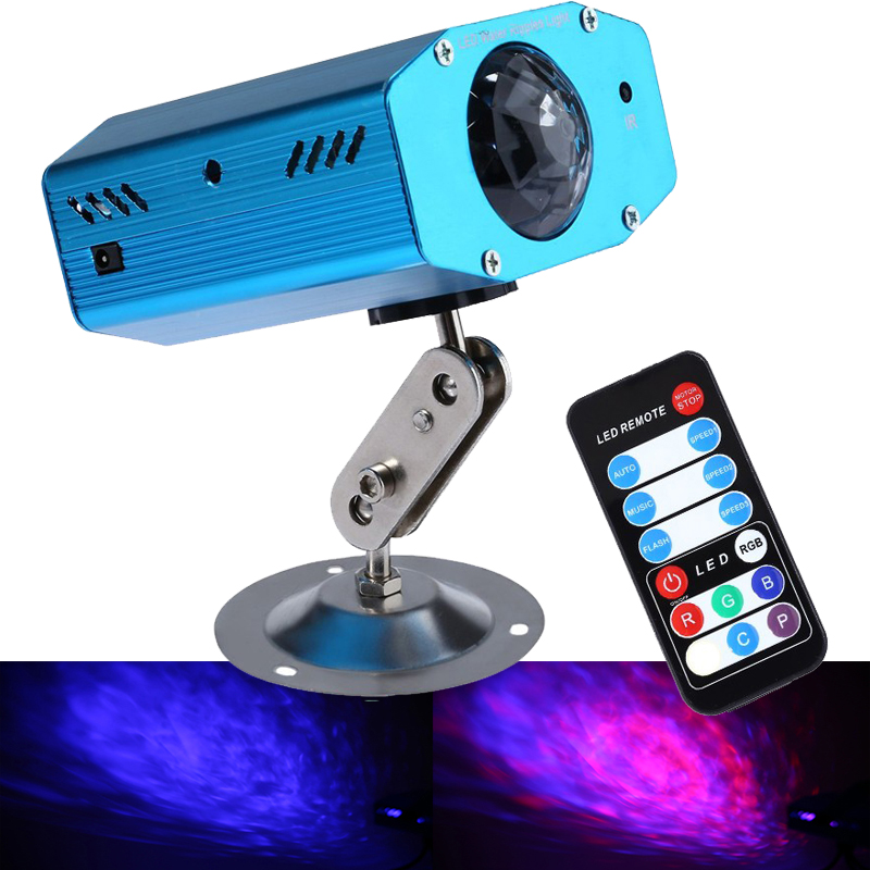 Good price new Mini remote control water ripples light DJ Disco stage projector wedding holiday decoration background light