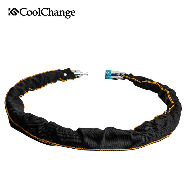 Coolchange Bike Lock Outdoor Sports Anti-Theft Cycling Chain Lock Security Safe MTB Bicycle Lock Bike Theft Resistant Chain Lock