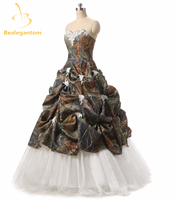 Bealegantom Ball Gown Ball Gown Appliques Camouflage Quinceanera Dresses 2018 Lace Up Party Gown Vestidos De 15 Anos QA1035