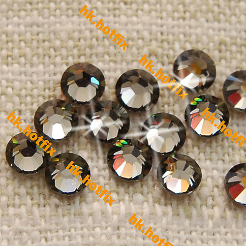 ss6 GENUINE Swarovski Elements BLACK DIAM0ND ( 215 ) 288 pcs ( NO hotfix  Rhinestone ) 608de4d4bc35