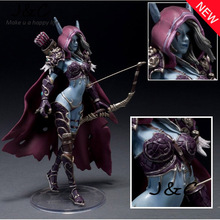 Hot Sale WOW Figure Model Toy Lich King Alsace Sylvanas Windrunner Classic Action Figure Toys 15cm For Boys Without retail box