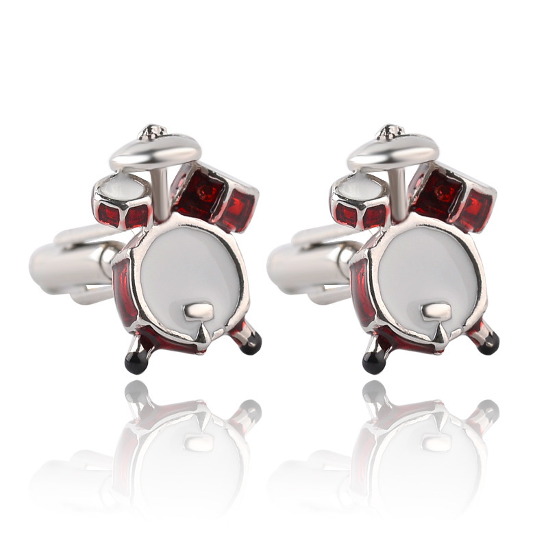 Trendy Hotsale Designs Mans Shirt Cufflinks Novelty Band Drum French Mans Cuff Links Wedding Business Party Gift