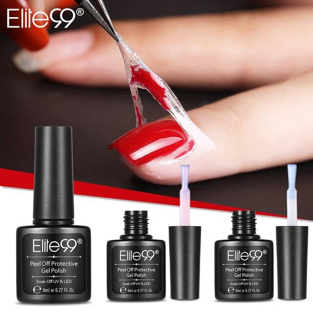 Elite99 Descascar Protetora Nail Polish Manicure Dedo Protegido Fácil Limpeza Rápida Pele Fita Líquido Gel Nail Care Ferramenta Pinça
