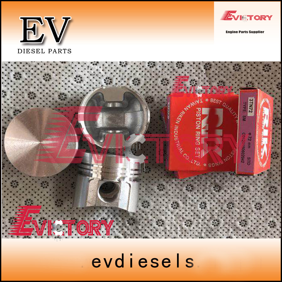 For Yanmar 3T72-LTBS 3T72 piston+piston ring+cylinder liner+gasket kitFor Yanmar 3T72-LTBS 3T72 piston+piston ring+cylinder liner+gasket kit