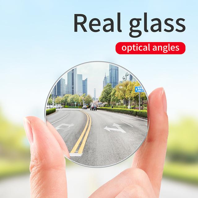 Baseus 2Pcs Car Holder HD Rear View Convex Mirror Auto Rear View Mirror 360 Degree Wide Angle
