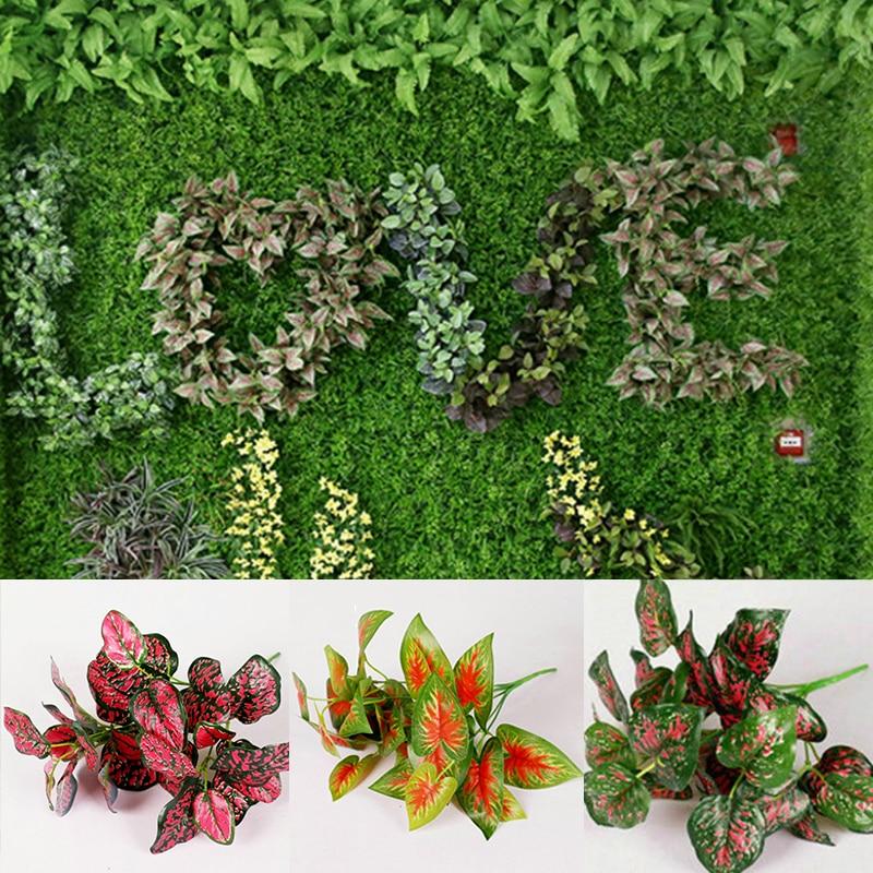 Hot Sale Diverse High Quality Artificial Plants Indoor Outdoor Fake Leaf Foliage Bush Office Garden Decor Interior Design
