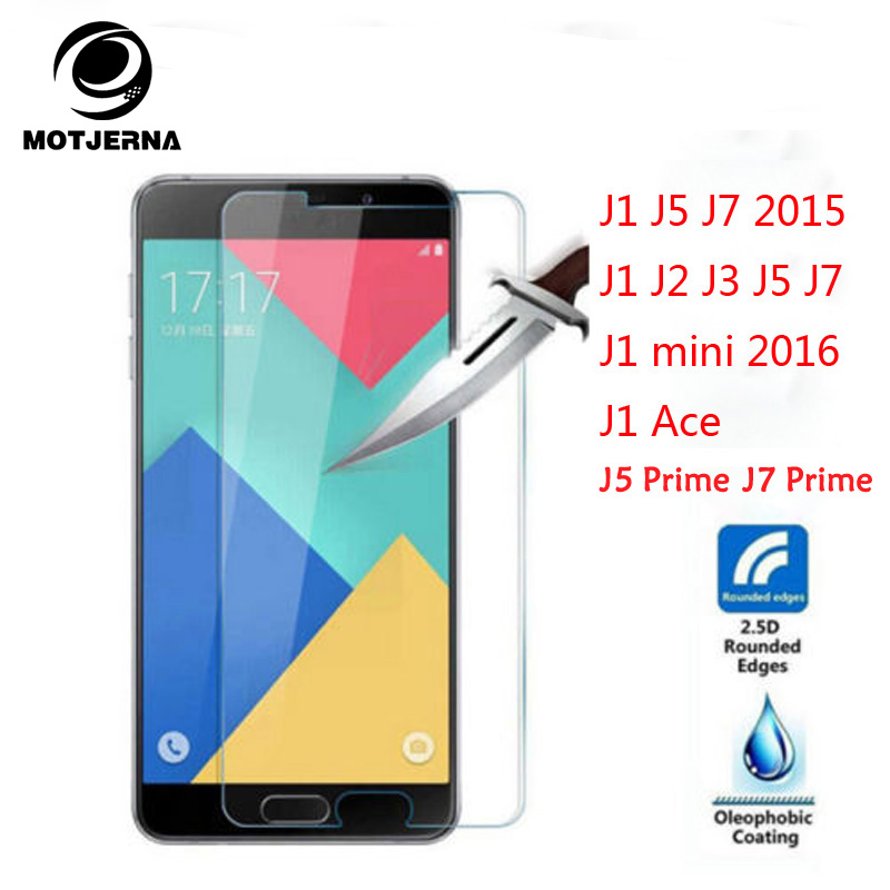 Motjerna Premium Tempered For Samsung Galaxy J1 J5 J7 J2 J3 J1 Ace J1 mini 2016 Grand Prime Screen Protector Glass Front Film