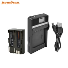 Powtree For Canon 7.2V 2800mAh BP511A BP-511A BP 511A  511 BP-511 BP511 Camera Battery + LCD Charger EOS 300D 50D 40D 5D