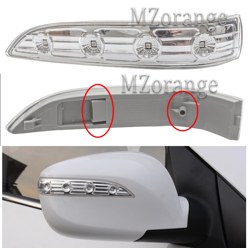 MZORANGE espejo lateral lámpara LED para Hyundai IX35 2009 2010 2011 2013 2014 2015 coche para señal de giro de espejo retrovisor Luz de alta calidad MZORANGE para JAC J5 2010 2011 2012 2013 sedán coche LED espejo retrovisor luces de señal de giro retrovisor lámpara de espejo retrovisor de alta calidad