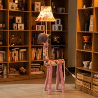 Floor Lamp For Living Room Decoration Lighting Fabric Animal American Flag Horse Kids Toy Floor Lights Bedroom