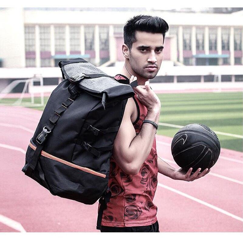 Zebella черный мужской рюкзак большой емкости мужские дорожные рюкзаки спортивная баскетбольная сумка дышащий рюкзак Mochila школьная сумка-5