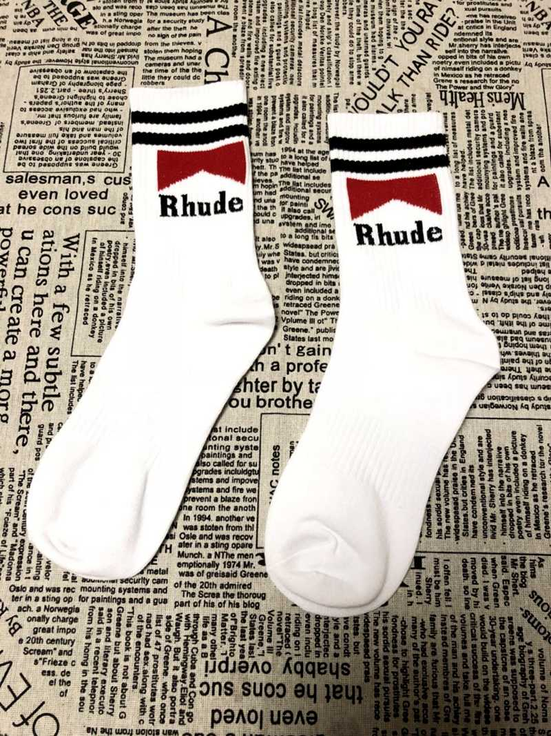 fbde939f319e7 ... RHUDE 2018 women men fashions long socks instagram summer streetwear  kanye west fog harajuku hip hop ...