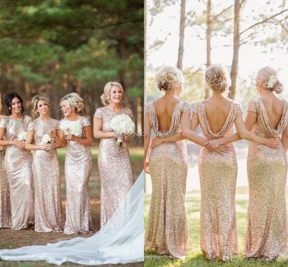 Longer length bridesmaid dresses