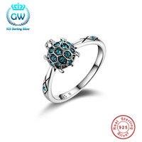 925 bijoux en argent sterling Tortue Anneau De Mariage & Fiançailles Anneaux De Mode Pour Femmes Promotion 50% Off Ripy013