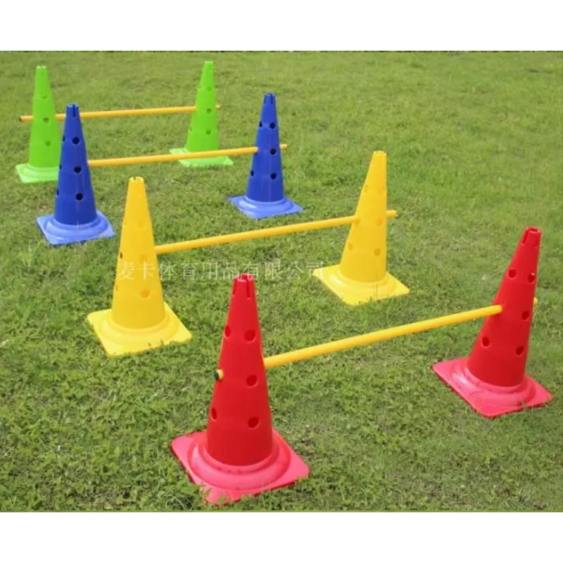 52cm Soccer cone training road sign cones speed roadblock exerciser barrier Football training equipment ...