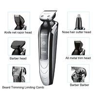 Kemei KM 1832 5in1 Waterproof Rechargeable Electric Beard Cutter Hair Clipper Nose Hair Beard Trimmer Shaver razor barber