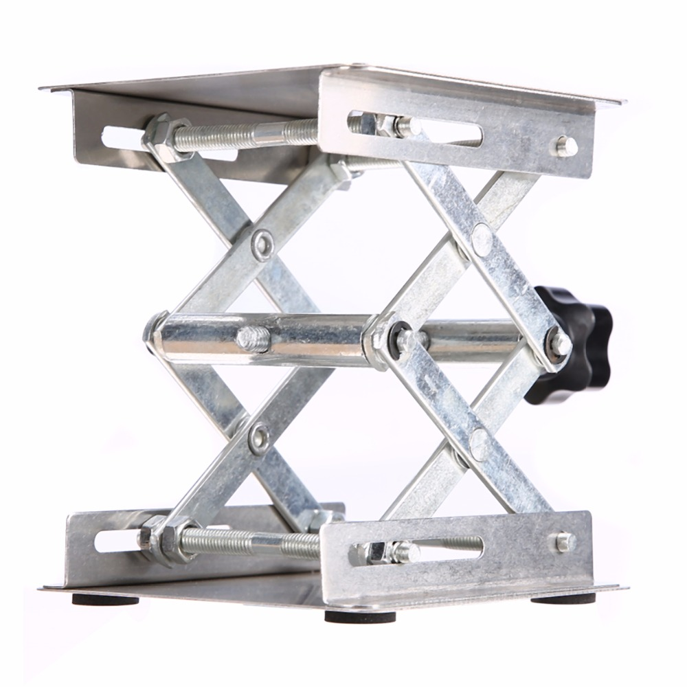 100*100mm Laboratory Lifting Platform Stainless Steel  Lab Scissor Stand Rack For Lab Accessories 100