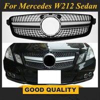 W212 бриллиантами гриль передний бампер решетка для Mercedes W212 E Class седан 2010 2013 E200 E250 E300 E350 E400 предрестайлинг