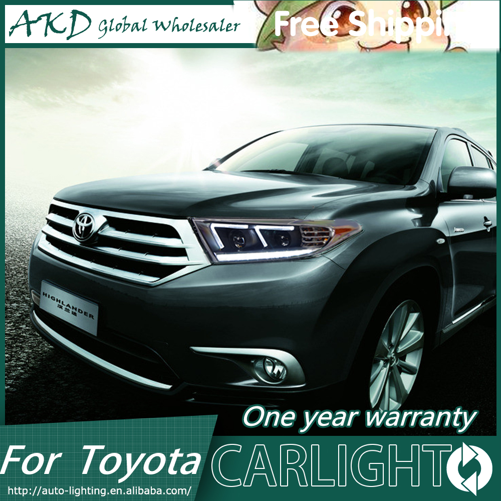 AKD Car Styling Head Lamp for Toyota  Highlander 2014-2016 Camry V50 LED Headlight DRL H7 D2H Hid Option Angel Eye Bi Xenon Beam givenchy 2014 12g 2 7