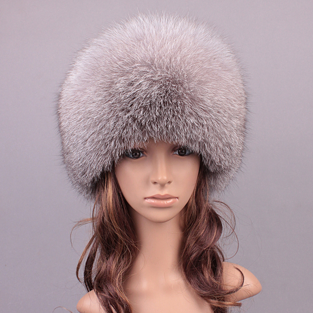 Winter Real Fur Hats For Women Fox Fur Girls Hat Patchwork Casual Warm Lovely Caps Beanies Women 2016 New Russian Hat