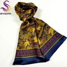Дизайн, Мужской Классический шелковый шарф с рисунком галстука, модные длинные шарфы с рисунком Пейсли и птицы, осенне-зимний мужской шарф