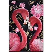 Yikee Алмазная картина круглые стразы полный цветов diy мозаика