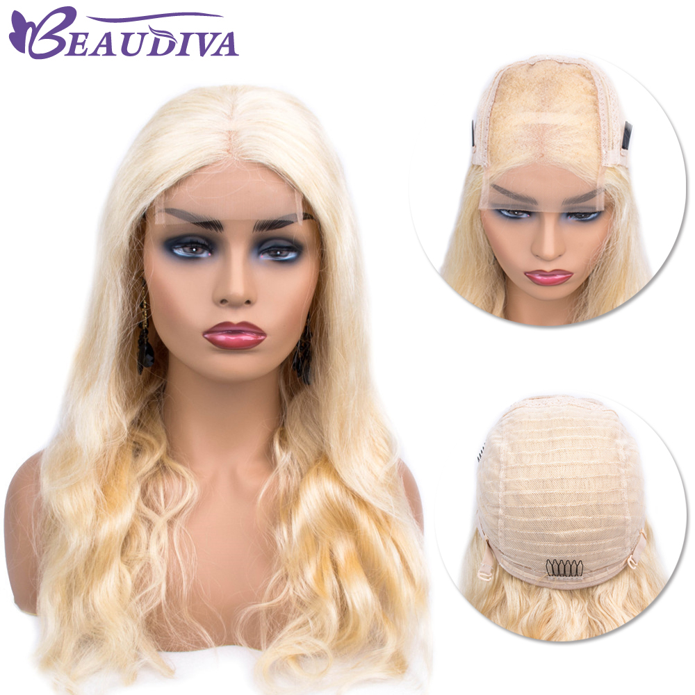 Brazilian 613 Blonde Lace Front Human Hair Wigs With Baby Hair Pre Plucked Remy body wave