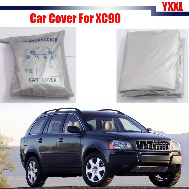 Cawanerl Car Cover Anti UV Rain Snow Sun Resistant Protector Cover Dustproof For Volvo XC90