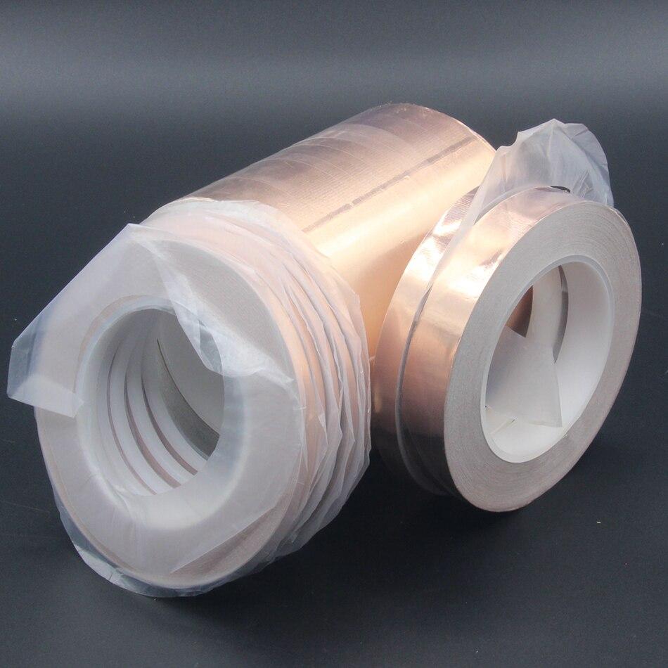 1Pcs 3mm-12mm Single Conductive COPPER FOIL TAPE Strip 1pcs X 30M EMI Shield  COPPER FOIL TAPE