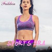 Summer Hot Sale Women Fitness 3D Shakeproof Bra Stretch Bras Push Up Wireless Bra Seamless Padded
