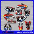 MOTORCYCLE CRF450R 2005 06 07 08   RED 3M GRAPHICS  BULL 06 BACKGROUND DECALS STICKERS KITS DIRT BIKE
