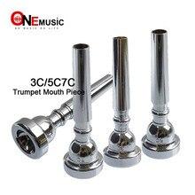 Высокое качество хром/золото Профессиональная труба 3C/5/7C рот кусок мундштук