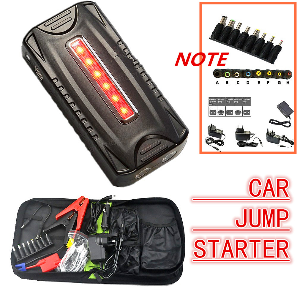 Portable Car Jump Starter booster Mobile phone Laptop Auto Engine Emergency Battery Pack charger power bank for Petrol/Diesel 2017 30000mah 12vportable car jump booster led charger emergency start power bank new