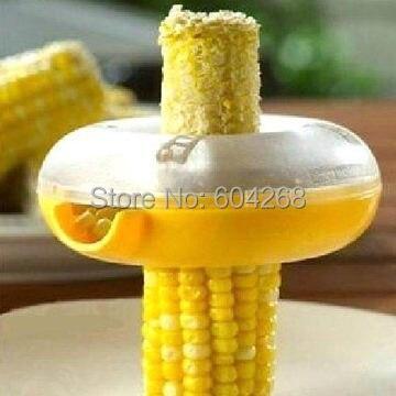 Rljlivesoutil de pelage facile   Aide de cuisine, outil de pelage facile, une étape dénudeur de maïs éplucheur