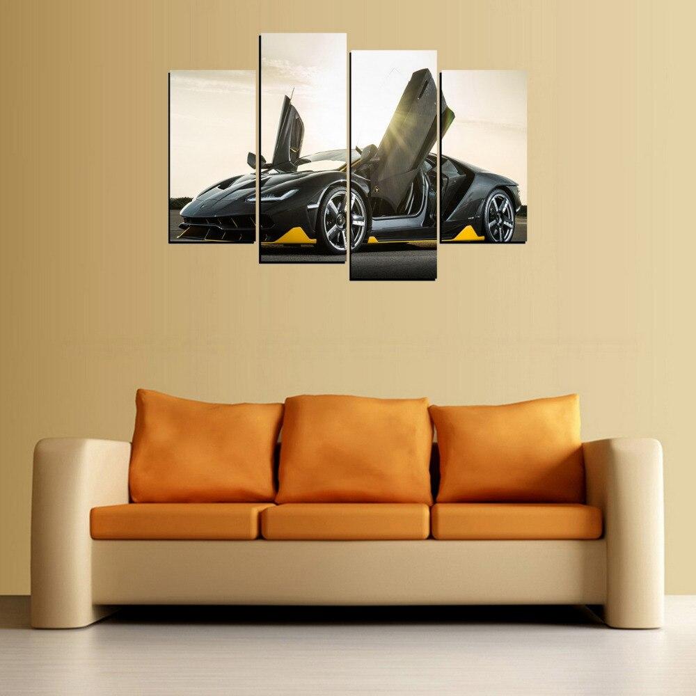 4 Panelen Schaar Deur Auto Canvas Schilderen Op Canvas Wall Art Foto ...
