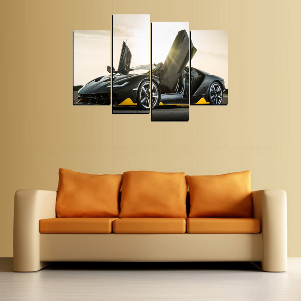 4 Panels Scissors Door Car Canvas Painting On Canvas Wall Art ...