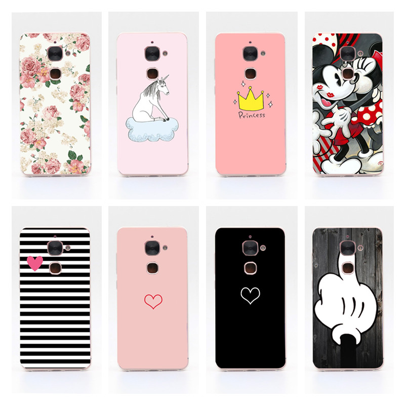 For Letv LeEco Le S3 X626 Case Silicone Soft TPU Cover Leeco Le 2 X620 X20 X25 Phone Back Cases Le2 Pro Painted Clear Side Funda