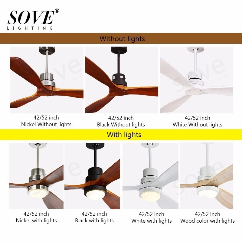Sove Wooden Ceiling Fans Without Light