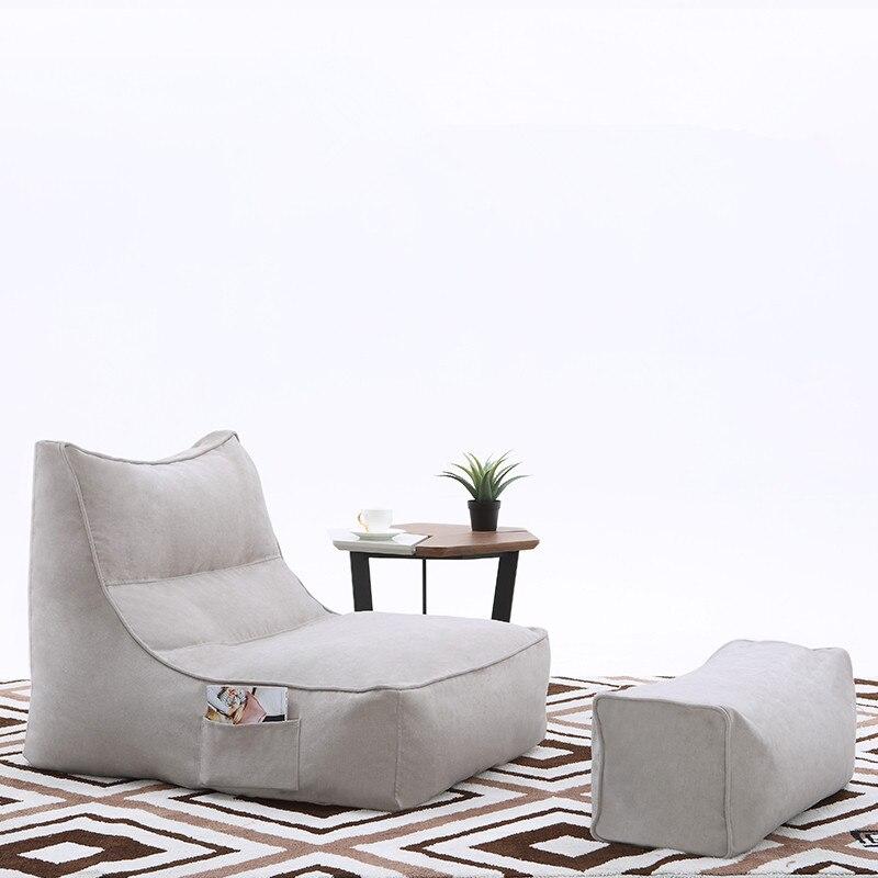 Paresseux canapé chaise de sol sacs de haricot confortable Mini canapé doux coussin de sol paresseux canapé avec repose-pieds EPS particules pouf salon