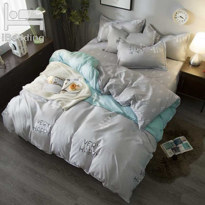Home Textile Bedding Duvet Cover Set Duvet Cover Flat BedSheet Pillowcase Bedclothes Queen King Size 3 Or 4Pcs A B Side Sheet