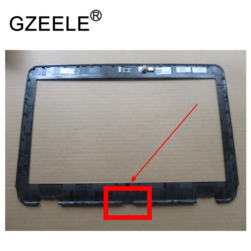 GZEELE NEW LCD Front Bezel for Dell Inspiron 14R N4110 M411R LCD B cover b shell LCD front bezel case w/Camera hole 02PVR6 2PVR6 brand new original lcd back cover for dell inspiron 13 5000 5368 5378 hh2fy 0hh2fy black
