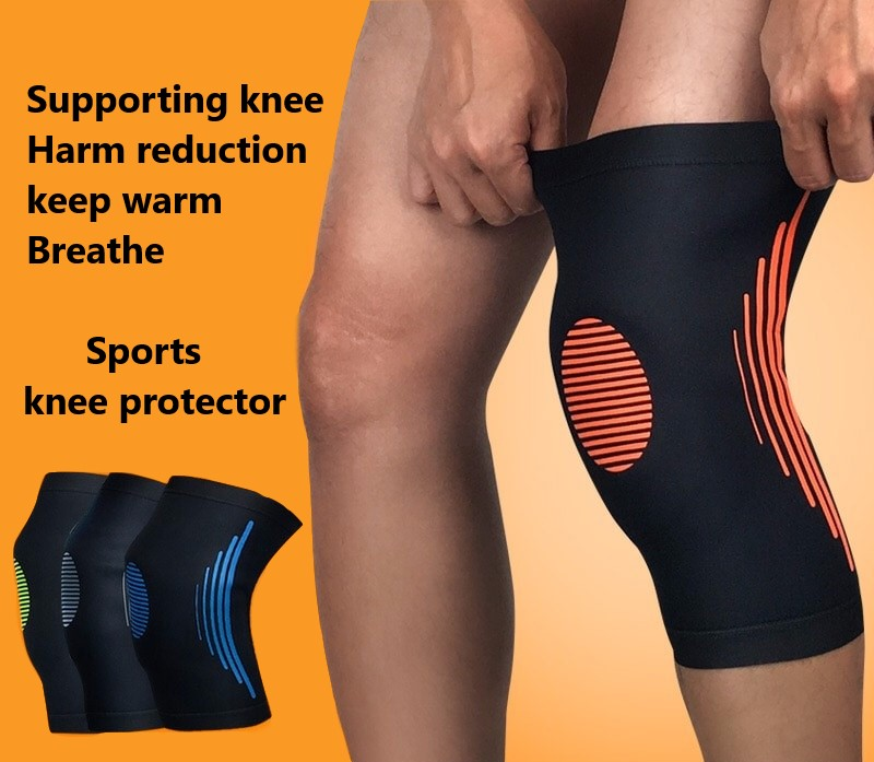 Basketball Knee Protector Outdoor Sports Mountaineering Running Leg Protector Set Breathable And Collision-proof Knee Sleeve