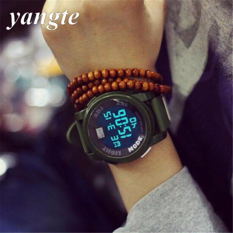 d5d77de585eb Yangte amantes relojes hombres reloj militar deportes la alarma calendario  relojes digitales ocasionales de múltiples funciones AB184